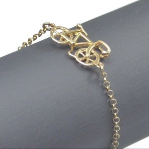 Sterling Silver Vermeil Bicycle Gold Tone Bracelet